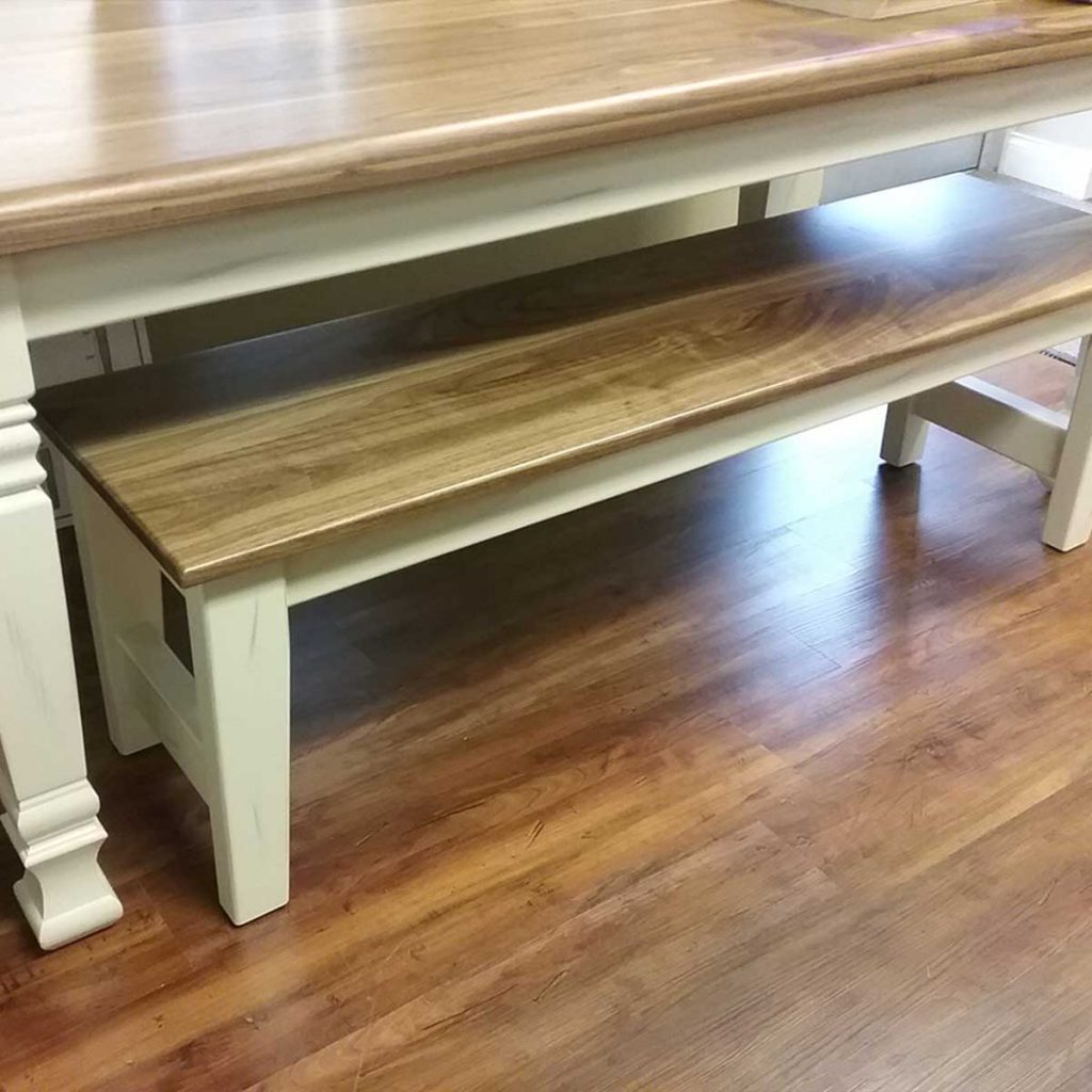 custom wood benches